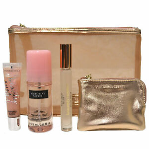 Victoria's Secret Gift Set Heavenly Summer Perfume Lip Gloss Mist Fun In the Sun
