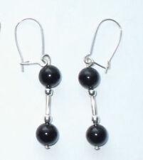 Onyx Silver Plated Fine Earrings