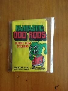 Fantastic odd rods unopened wax pack 1973