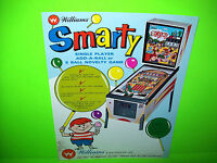 Williams SMARTY Original 1968 Flipper Game Pinball Machine Promo Sales Flyer