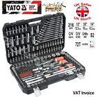 Yato Professional 216 pcs Ratchet Socket Set 1/2 1/4 3/8 Tools Toolbox YT-38841