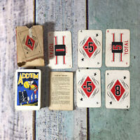 "VINTAGE ""ADD'EM"" CHILDRENS EDUCATIONAL PLAYING CARD GAME - 1930's"