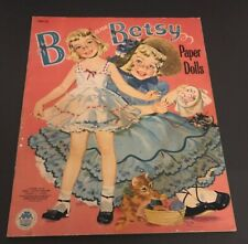 Vintage 1954 B Is For Betsy & C Is For Carol Merrill Paper Dolls Book Uncut