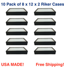 10 Pack Of 8 X 12 X 2 Riker Display Cases Boxes For Collectibles Arrowheads