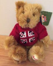 "Harrods Union Jack 10"" Teddy Bear w/British Flag Sweater plush w/tag"