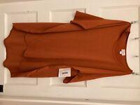 NWT womens size Medium LulaRoe rust color orange top