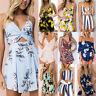 Women Mini Playsuit Summer Beach Holiday Ladies Casual Romper Jumpsuit Shorts
