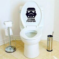 Funny Storm Pooper Toilet Seat Decal Cool Movie Bathroom Sticker Home Decoration