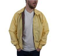 Vintage 70s Men's Harrington Plaid Jacket Medium Yellow Hipster Baracuta Mod 80s