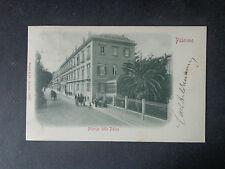 CARTOLINA PALERMO ALBERGO DELLE PALME VIAGGIATA DEL 1900 SUBALPINA AAA