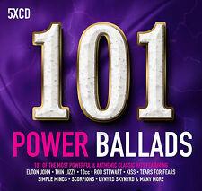 101 Power Ballads 5 CD Set Various Artists 2017