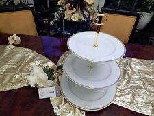 Noble enormes etagere 31 cm de diámetro 3 niveles Rosenthal Versace Meandre d 'or