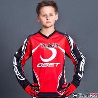 Oset Elite Junior Trials Shirt In Red - Kids/Youth/Child