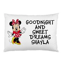 MINNIE MOUSE Goodnight and Sweet Dreams Personalized childrens kids pillow case