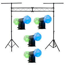 American DJ (4) Jelly Cosmo Ball Rgb Color Rotating LED Light & Truss System New