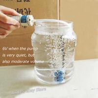 Air Pump 6 x 4 mm Silicone Hose + Bubble stone for Aquarium Fish Tank DIY 12V DC
