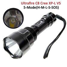 UltraFire C8 Cree XP-L V5 1A 5 Modes (Hi-Me-Lo-S-SOS) 2000 Lumen Led Flashlights