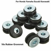 10Pcs Motorcycle Fairings Cowling Pieces Rubber Grommets Bolts For Honda Yamaha
