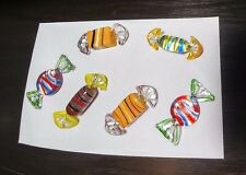 6 Piece Colorful Decorative Art Wrapped Glass Candy
