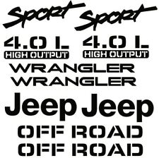 1997-2006 for JEEP WRANGLER Sport 4.0L Replacement fender Decals sticker TJ FULL