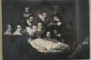 Rembrandt etching Dr. Tullip and the cadaver lesson