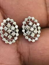 0.68 Cts Round Brilliant Cut Diamonds Stud Earrings In Solid Certified 14K Gold
