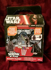 Star Wars Shrink N' Play Activity Playset R2D2 Darth Vader Background Craft set