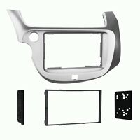 2009 2010 2011 2012 2013 Honda Fit Dash Kit Double Din for Radio Silver