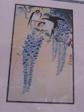 SWALLOWS AND WISTERIA, ORIENTAL, JAPANESE, BIRDS, Cross Stitch PATTERN NIP