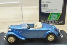 Eligor 100000 Modellauto Citroen Traction 11 CV in stahlblau metallic OVP 1:43