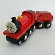 James No 5 & Tender Thomas The Tank Engine & Friends Wooden Brio Railway Train
