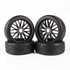 4X 1:8 On-Road Tire Wheel Rim 103mm 17mm Hex RC For HSP Racing Traxxas Buggy