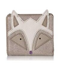FOSSIL RFID Mini FOX Wallet LEATHER Champagne SL7854699 NWT