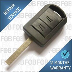 Vauxhall / Opel Corsa Agila Meriva 2 Button Remote Key Fob Repair Fix Service