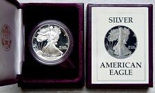 1987-S PROOF AMERICAN SILVER EAGLE 1 Oz BULLION COIN, OGP/COA