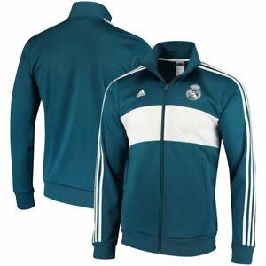Real Madrid Track Jacket by Adidas Spain La Liga NWT Soccer Football Large & XL