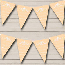 RegalPeach Personalized Engagement Party Bunting Flag Banner