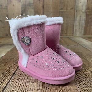 Toddler Girls' Swiggles Rhinestone Boots Color Pink Toddler's Size 7 NWT