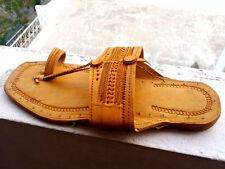 men US 8 to 11 handmade leather sandal handmade shoes kolhapuri mojari flip flop