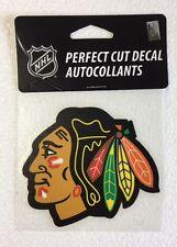 """Chicago Blackhawks 4"""" x 4"""" Logo Truck Car Window Die Cut Decal Color New NHL"""