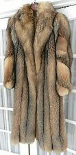 WOMENS CRYSTAL FOX FUR COAT Large Full Length Dolman Sleeve Custom Lined Design