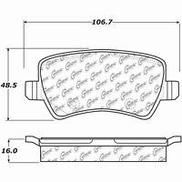 Rr Super Premium Ceramic Brake Pads  Centric Parts  105.18720