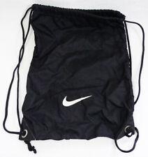 Nike Black Nylon Small Drawstring Gym Sack Bag