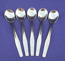 "SET OF 5  WMF CROMARGAN GERMANY 4 & 3/4"" DEMITASSE DEMI SPOONS STAINLESS"