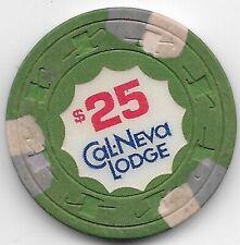 Cal Neva Lodge $25.00 Casino Chip Lake Tahoe Nevada