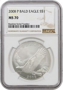 2008 P $1 Bald Eagle Recovery Commemorative Silver Dollar NGC MS70