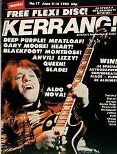 Aldo Nova on Kerrang No: 17 Magazine Cover 1982   Deep Purple    Heart    Queen