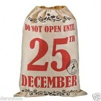 LARGE FATHER CHRISTMAS SANTA SACK RED STOCKING BAG GIFT PRESENTS XMAS JUTE TREE2
