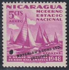 "NICARAGUA 1949 BASEBALL REGATTA Sc C300 PERF PROOF ""SPECIMEN"" MNH VF & SCARCE"