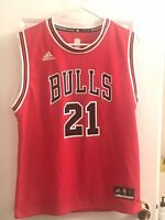 Youth Kids Adidas Chicago Bulls #21 BUTLER Red Jersey Size Large 10-12 NBA